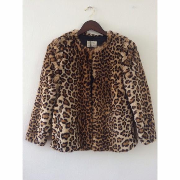 83% off Zara Jackets & Blazers - Zara Girls Faux Fur Leopard Coat ...