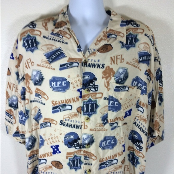 ae181ad4e NFL Seattle Seahawks Tan Aloha Shirt Size XL. M 55988edb2b995678ff00b0d4