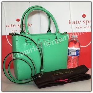 SALE New Kate Spade green leather Satchel