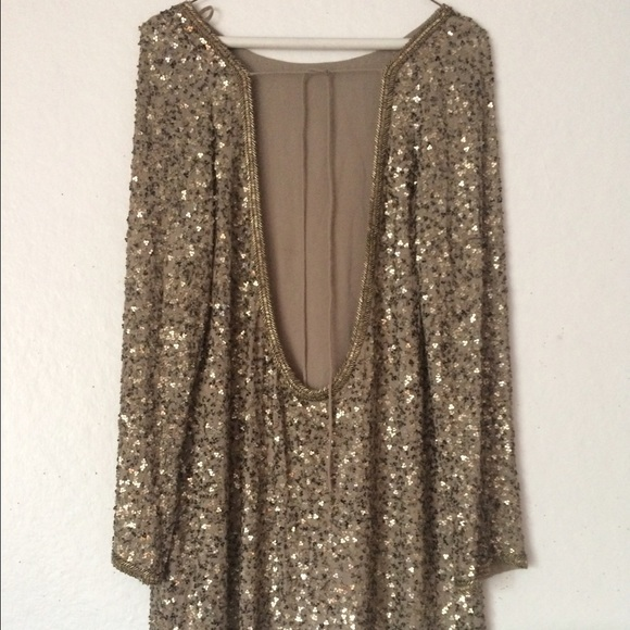 60% off All Saints Dresses & Skirts - Tavi Sequin Backless All ...