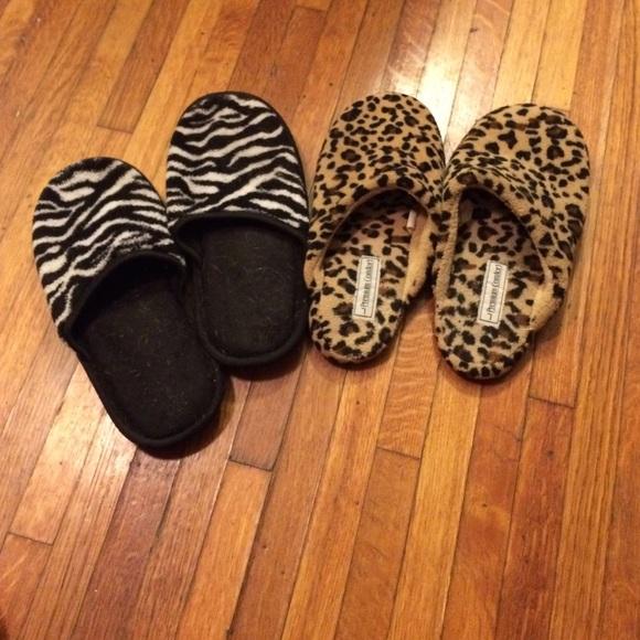 Bundle Of 2 Animal Print House Slippers