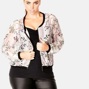 City Chic Jackets & Blazers - Floral jacket