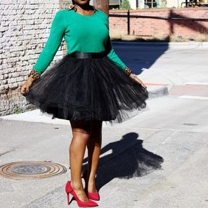 Space 46  Dresses & Skirts - Black Tulle Skirt
