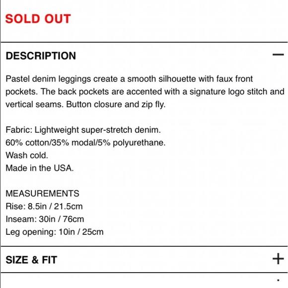 Rag bone pants rag bone size guide for the legging jeans poshmark