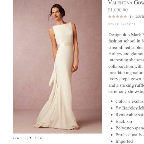 51bdec457a Anthropologie Dresses   Skirts - BHLDN Valentina Gown