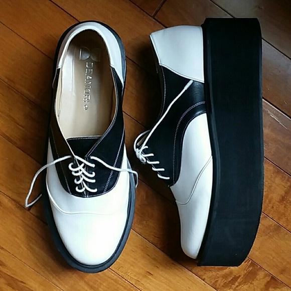 deandri deandri depp platform oxfords saddle shoes from