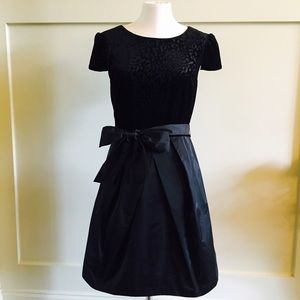 Velvet leopard nylon skirt block party dress