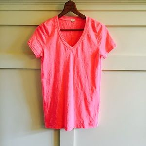 J. Crew Tops - J.crew neon pink burned out cotton tee