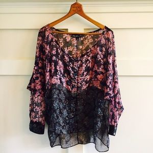 Elizabeth and James Tops - Elizabeth and James silk chiffon blouse NWOT
