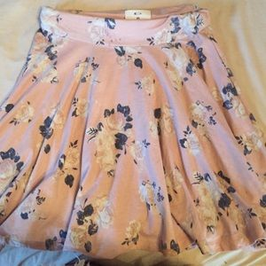 Floral Baby Pink Skater Skirt