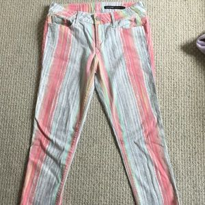 Black Orchid Denim - Stripped colorful straight leg stretch jeans!☀️☀️
