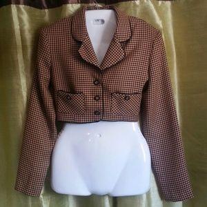 Jennifer Jeffries Jackets & Blazers - Houndstooth midi jacket