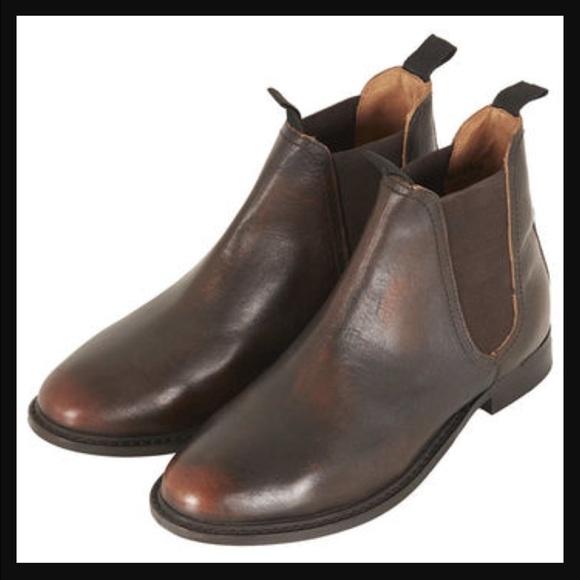 Topshop age vintage Chelsea boots size 5 Uk