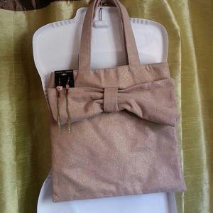 Handbags - Canvas handbag with cute custom earrings