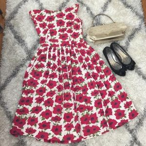 ️2X Host Pick Vintage floral dress 50's