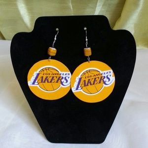 Jewelry - Lakers team spirit earrings