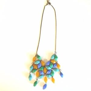 Bohemian beaded bib necklace
