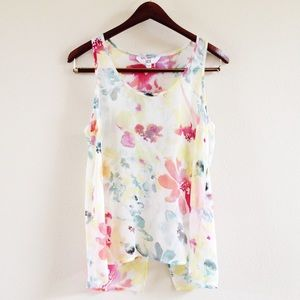 | new | sheer watercolor tank