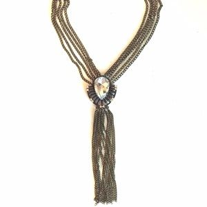 Jewelry - Long brass necklace
