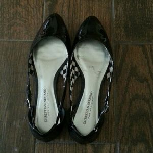 Christian Siriano Shoes - Black cut out flats
