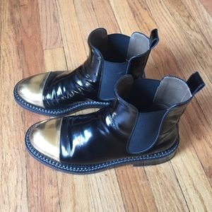 MARNI GOLD TOE CHELSEA BOOT