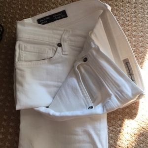 White straight leg AG jeans