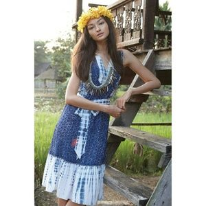 {anthropologie} shiboni patchwork dress