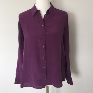 Uniqlo Purple Silk Shirt