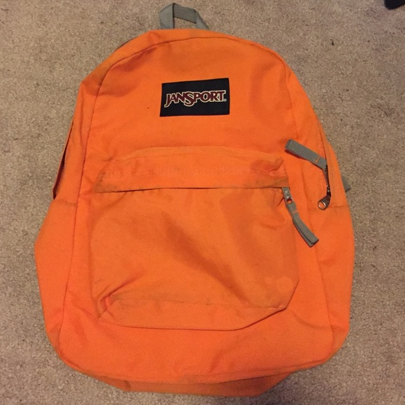 77% off Jansport Handbags - Orange and gray Jansport backpack from ...
