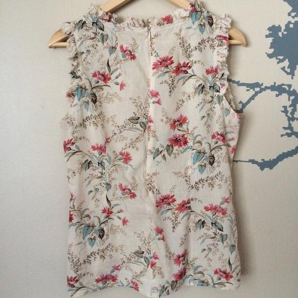 ??? Zara Floral Print Blouse 77
