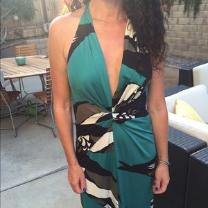 Beautiful authentic Issa long halter dress