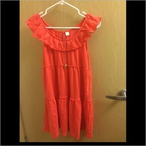 Bright coral summer dress