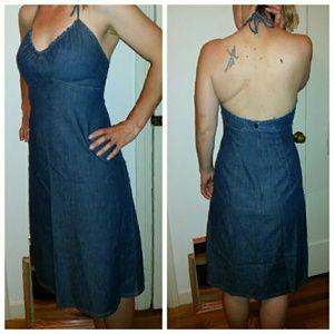 ef597b247c GAP Dresses - Gap jean halter dress