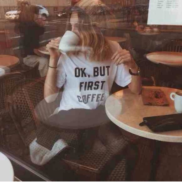 Ok but first coffee Brandy Melville
