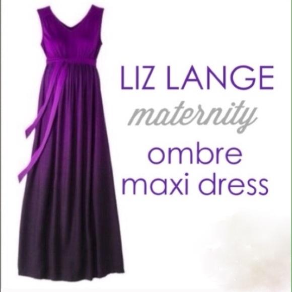 c2e3649f17d Liz Lange Maternity for Target Dresses   Skirts - Liz Lange Purple Ombre Maternity  Maxi Dress