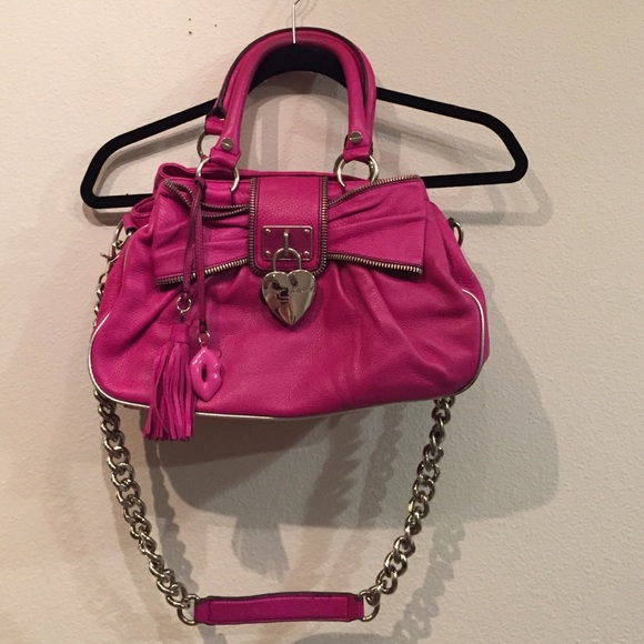 a0baef092d1b Betsey Johnson Handbags - 🌺Betsey Johnson pink leather lock in love satchel
