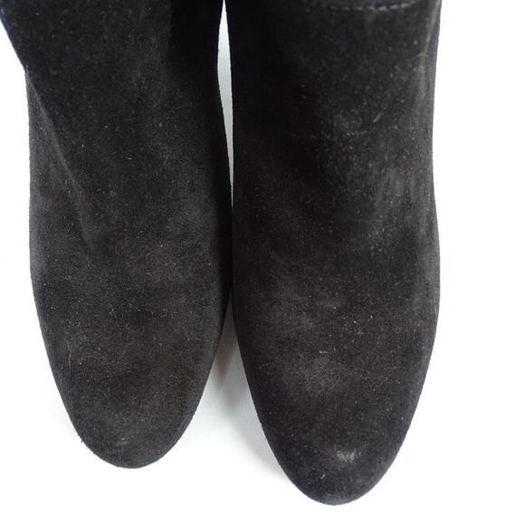 Stuart Weitzman - Stuart WEITZMAN 5.5 Tall Boots Black Gold Zipper ...
