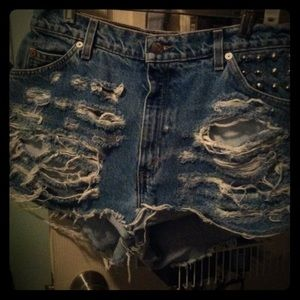 UNIF Denim - Studded cut off Levi shorts sz30