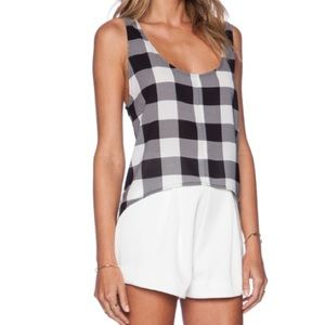 BB Dakota Gingham Print Tank Top