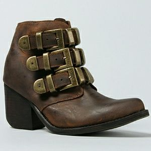 Jeffrey Campbell Brown Triplet Boot