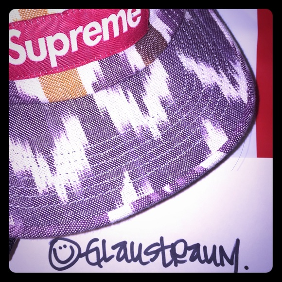 3467dd41 Supreme Accessories | Purple Ikat Camp Hat Cap | Poshmark