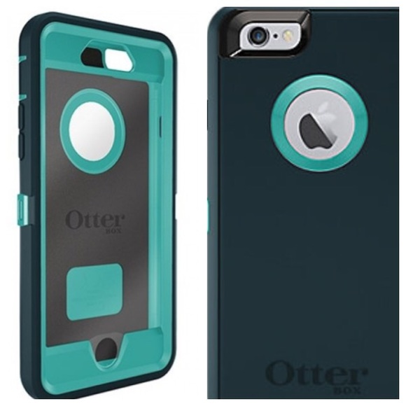 wholesale dealer b34b9 16517 OtterBox Defender IPhone 6 plus 6+ Teal & Gray