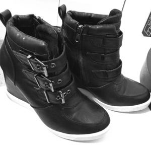 Steve Madden Leather Sneaker Wedges