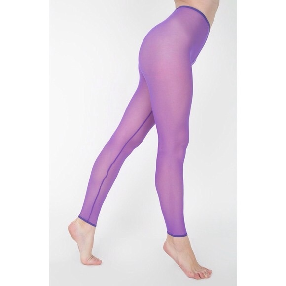 9b396ebc169b2 American Apparel Pants - Neon purple American Apparel mesh leggings
