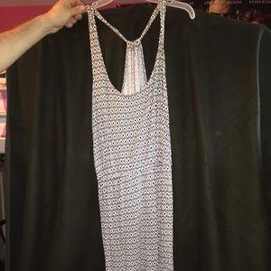 Old Navy Black and White Diamond Pattern Dress