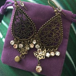 Lucky Brand Jewelry - Bronze filigree dangle earrings
