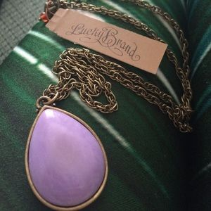 Lucky Brand Jewelry - Purple teardrop pendant necklace