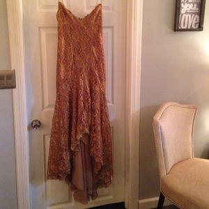 Gold/Rose Gold Nicole Miller Dress.