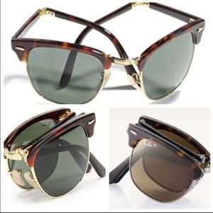 Authentic rayban clubmaster folding