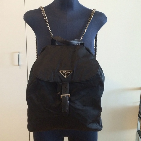 041b391a4dc5 Prada chain strap backpack. M 559ad90f859908529701406b